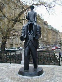Kafka, Prague Sculpture