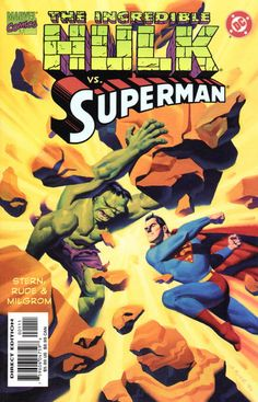23 best dcmarvel crossovers images on pinterest comic books art incredible hulk vs superman 1999 cover by steve rude fandeluxe Choice Image