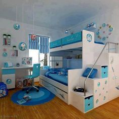 Find this Pin and more on Kindermbel. Kids Bedroom Bedroom Interior Teens  Bedroom White Bunk Beds ...