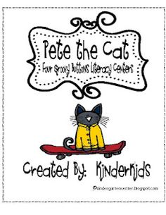 Pete the Cat and his GROOVY Buttons Literacy Centers FREE until midnight tonight 4-10-12.  FREE Pete the Cat 10 frame FOREVER!