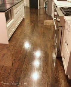 Michelle (@Michelle Flynn (4 Men 1 Lady) (www.4men1Lady.com)) spills the beans on what she loves and doesn't love about her dark hardwood floors. A good read for fans of dark hardwoods!