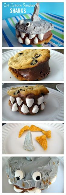 Ice Cream Sandwich Sharks. Great blog for reading activities!!