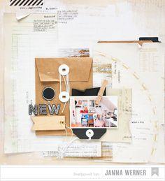 Janna Werner: Scrapbooking-Layout mit neuer DIY Shop-Serie von American Crafts