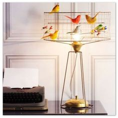 La Voliere table lamp by Mathieu Challieres - 'Decor that Soars', patternsnap blog