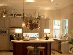 Ideas for Decorating Above Kitchen Cabinets Above Cabinet Decor, Decorating Above Kitchen Cabinets, Above Cabinets, Painting Kitchen Cabinets, Kitchen Decor, Grey Cabinets, Kitchen Dishes, Kitchen Ideas, Kitchen Colour Schemes
