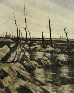 Rain and Mud after the Battle, by Christopher Nevinson, 1917.