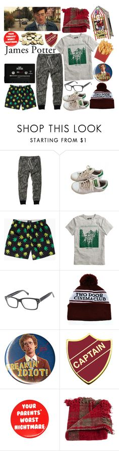 """James Potter"" by shiasunflower ❤ liked on Polyvore featuring Hollister Co., adidas, HUF, H&M, Joseph Marc, CASSETTE, Hot Topic, KING and Woven Workz"