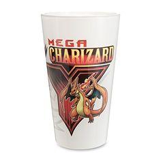 Mega Charizard Y Glass Tumbler