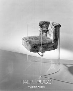 Ralph Pucci - VLADIMIR KAGAN divine plexiglass 'Cycle 3' Chair <3