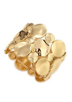 R.J. GRAZIANO Gold-Plated 3-Circle Hammered Bracelet