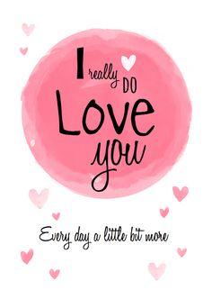 Lieve hippe valentijnskaart voor je grote liefde, verkrijgbaar bij #kaartje2go voor € 1,89