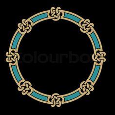 Stock vector of 'Celtic Interlaced Frame'