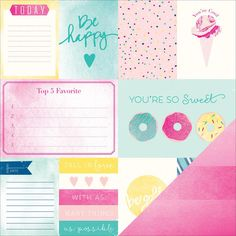 Dear Lizzy Serendipity Cotton Candy Paper $.89