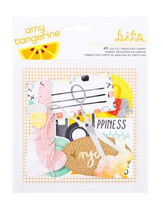Amy Tangerine Stitched Ephemera Pack by American Crafts Save 10% - Part Time Sally Store