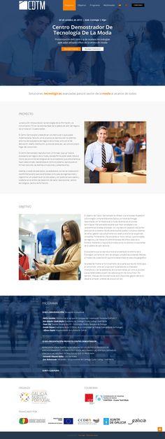 Añadimos a nuestro portafolio de trabajos esta web de evento realizada para el clúster textil gallego. Se trata de una 'one page' efímera, que sirvió de convocatoria informativa para la presentación de una nueva herramienta tecnológica. #wordpress #moda