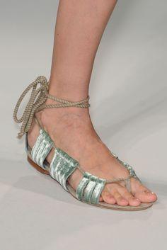 Alberta Ferretti S/S 11  | velvet sandals