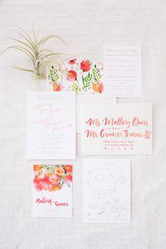 Summer wedding invit