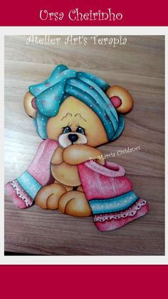 The Joy Of Painting, Painting Words, One Stroke Painting, Tole Painting, Fabric Painting, Bear Pictures, Cute Pictures, Painting Templates, Country Paintings