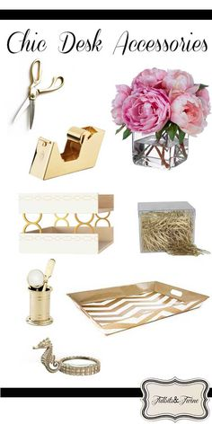 TIDBITS & TWINE: Crushing On Gold Desk Accessories {inspiration & resources}