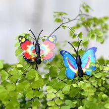 100 pcs Borboleta Colorida De Fadas Jardim Miniaturas Decoração Resina Bonsai Micro Paisagem DIY Artesanato Figurinhas De Fadas Em Miniatura(China (Mainland))