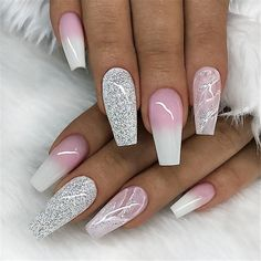 Coffin Nails Designs For Any Occasion White Coffin Nails Designs For Any Occasion;White Coffin Nails Designs For Any Occasion; White Coffin Nails, Coffin Nails Long, White Nails, Nails With White Tips, Blue Nail, Stiletto Nails, Nails Kylie Jenner, Nagel Bling, Uñas Fashion