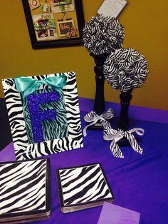 Zebra Themed Girls Birthday Party