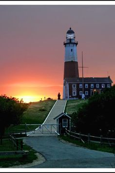 LIGHTHOUSE shirt Embroidered MONTAUK POINT New York with name if desired