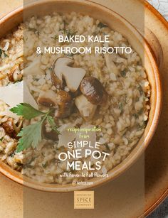 [ Recipe: Baked Kale & Mushroom Risotto ] ~ from Monterey Bay Spice Co