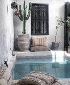 Ganze Unterkunft in Marrakesch, Marokko. WELCOM My treat and treasure, this Riad. - Ganze Unterkunft in Marrakesch, Marokko. WELCOM My treat and treasure, this Riad has been growing a - Backyard Pool Designs, Swimming Pool Designs, Backyard Pools, Riad Marrakech, Piscina Interior, Indoor Swimming Pools, Beautiful Bathrooms, Renting A House, Cool Ideas