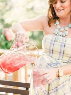 Drink Station - 12 Tips for Hosting an Outdoor Spring Party on HGTV