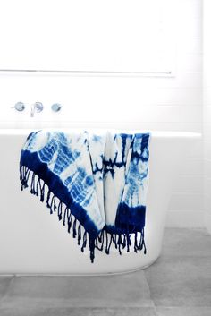 Brighten up any space with a hand-dyed Turkish bath towel