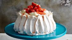 Pavlova with watermelon | Cake recipes | SBS Food