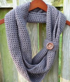 Cliffside Infinity Scarf  PDF Crochet by CrochetSpotPatterns