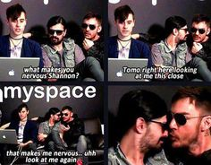 That's when Shannon almost kisses Tomo on his nose and Jared sitting there with his marshawk just too adorable to bear I love them!!!