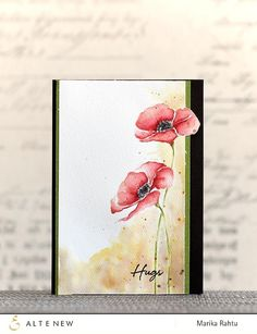 This is a bundle of Painted Poppy stamp set and coordinating die set. The inspiration for this set comes from beautiful poppy blooms. This will be another lovely 3-step floral set to add to your colle
