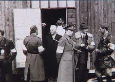 Grev Folke Bernadotte (i midten med kasket) besøger karantænestationen i Padborg d. 21. april 1945. I døråbningen skimtes baronesse Wedell-Wedellsborg og (i uniform) SS-Obersturmbannführer Rennau, der var kontaktmand til Himmler  Tidsperiode og årstal Datering:21. April 1945 - See more at: http://samlinger.natmus.dk/FHM/18989#sthash.wE7bkHCg.dpuf