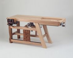 """This has to be the most unusual workbench I've ever seen: It was created by a Taiwanese artist and furniture builder whom, frustratingly, I can find little information about; his name is alternately transliterated as """"Chen Yuchien"""" and """"Chen Youjian."""" According to a translated description of an exhibition in"""