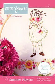 Embroidery Pattern PDF- Summer Flowers