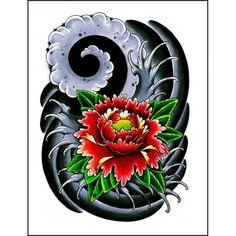 tatouage fleur vector set of hand drawn fleur de lotus lily motif tatouage l ment de design. Black Bedroom Furniture Sets. Home Design Ideas