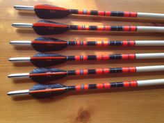 Handcrafted and crested English longbow arrows