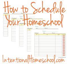 How to Schedule Your Homeschool printables | Intentional Homeschool