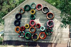 old tires decor