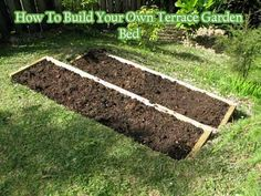 How To Build Your Own Terrace Garden Bed if you have a slanted garden and like to have a garden bed then this is the article for you. yes you can grow your garden on the slanted lawn but water run-off means the soil and plants dry out quickly. The