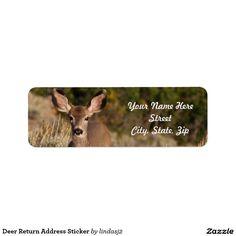 Deer Return Address Sticker