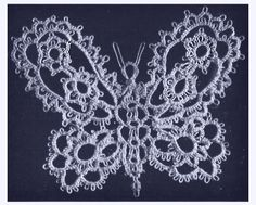 Dainty Tatted   Butterfly - from vintage Corticelli publication 1916