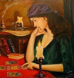 Gypsy doing a reading by candlelight           #gypsy, tarot, candle, mystical, reading, spirituality, concentrate, candlestick