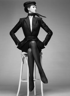 Lindsey Wixson styled by Carine Roitfeld.