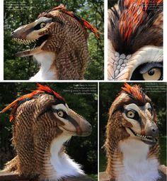 Kinglet the Raptor Masks/Costumes @ Featherdust.com Artist-Janice Miller