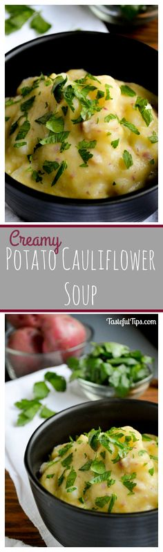 Creamy Potato Cauliflower Soup - gluten free, dairy free, but totally delicious!