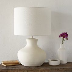 Beautiful Cartagena 27 Table Lamp by Highland Dunes Lighting Home Decor Furniture from top store Table Lamp Base, White Table Lamp, Table Lamp Sets, Lamp Bases, White Lamps, White Light Bulbs, Light Bulb Types, Transitional Table Lamps, Ceramic Texture